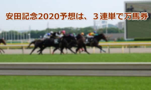 安田記念2020予想は、3連単で万馬券